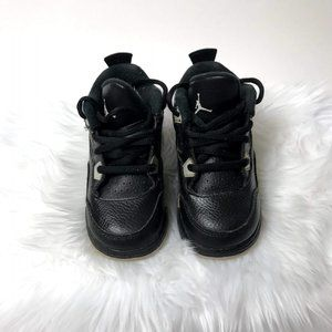 Nike Toddler's Black Grey Cement Basketball Shoes